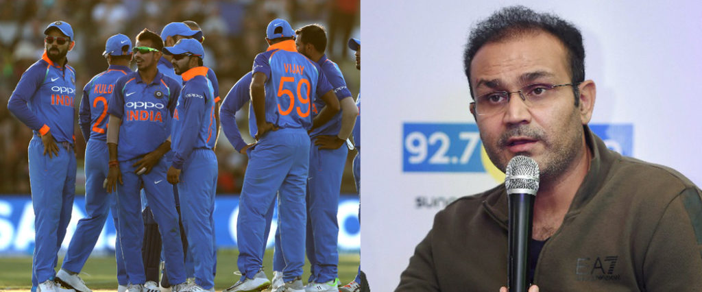 Virender Sehwag picks his team of India for cricket world cup 2019