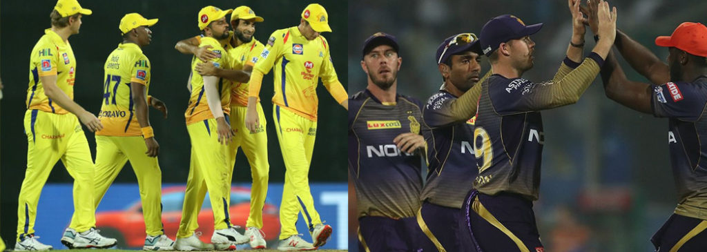 Table topper clash between CSK vs KKR