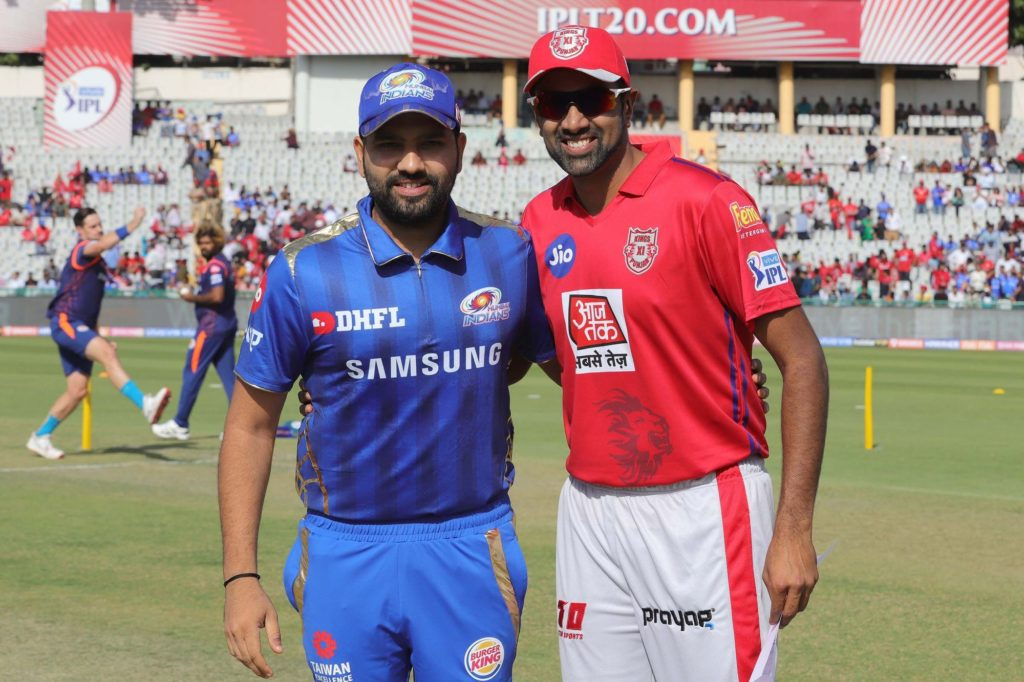 Fantasy cricket XI of MI vs KXIP match