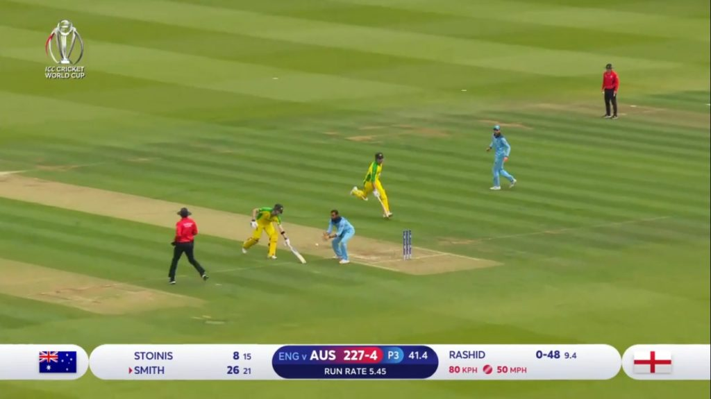 Marcus Stoinis Run-out against England