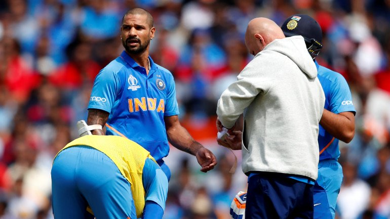 Shikhar Dhawan under the observation of the medical team: BCCI