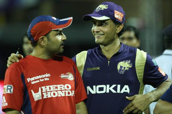 Virender Sehwag and Sourav Ganguly