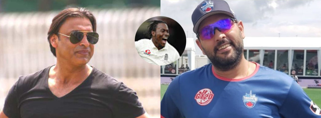 Yuvraj Singh comes up with a cheeky reply to Shoaib Akhtar's brutal message for Jofra Archer