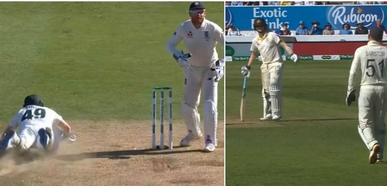 Jonny Bairstow fools Steve Smith by fake fielding