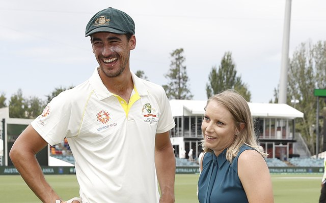 Mitchell Starc takes a wicket, and wife Alyssa Healy hits a four at the same moment