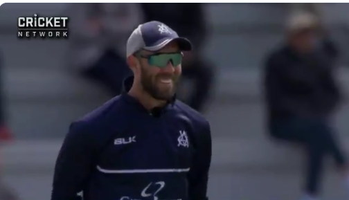 Maybe a Mankad, Glenn Maxwell on his first wicket