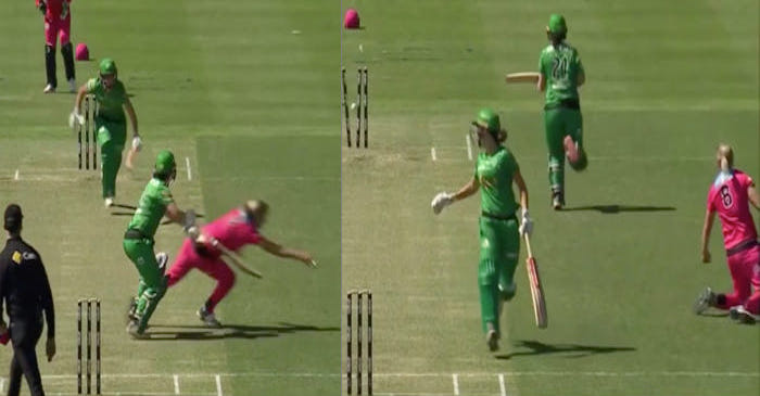 Ellyse Perry's brilliant run-out effort to dismiss Katey Martin