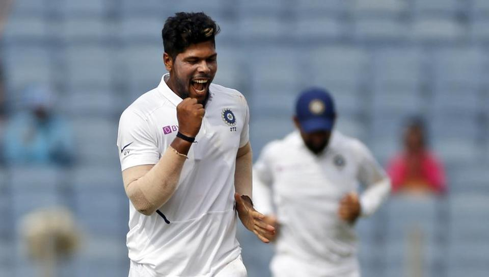 Umesh Yadav bowls a ripper to dismiss Quinton de Kock