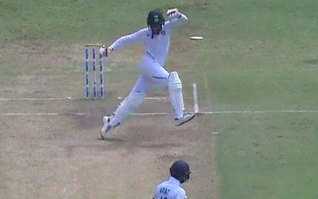 Jadeja received an official warning for running on the wicket