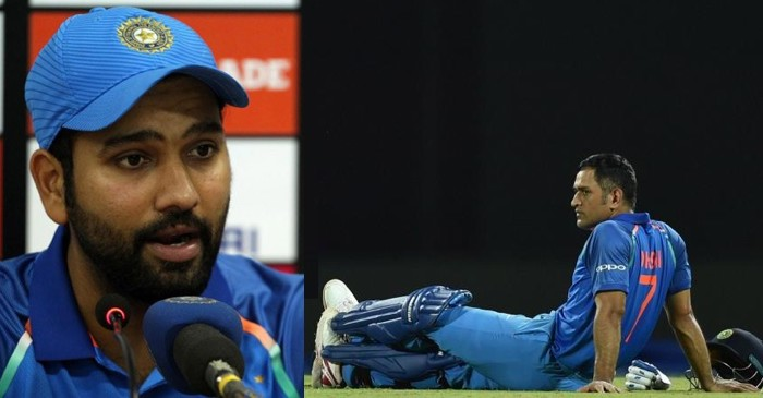 Rohit Sharma gives an epic Reply after Being Asked about MS Dhoni's retirement