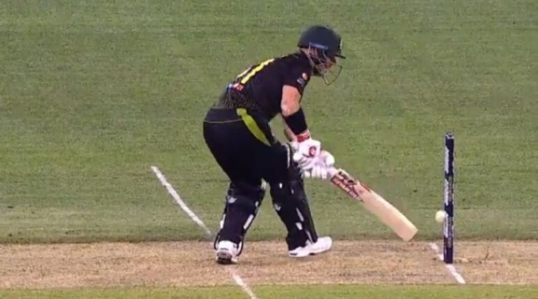 David Warner gets a chance despite ball touching stumps twice but bails don't fall