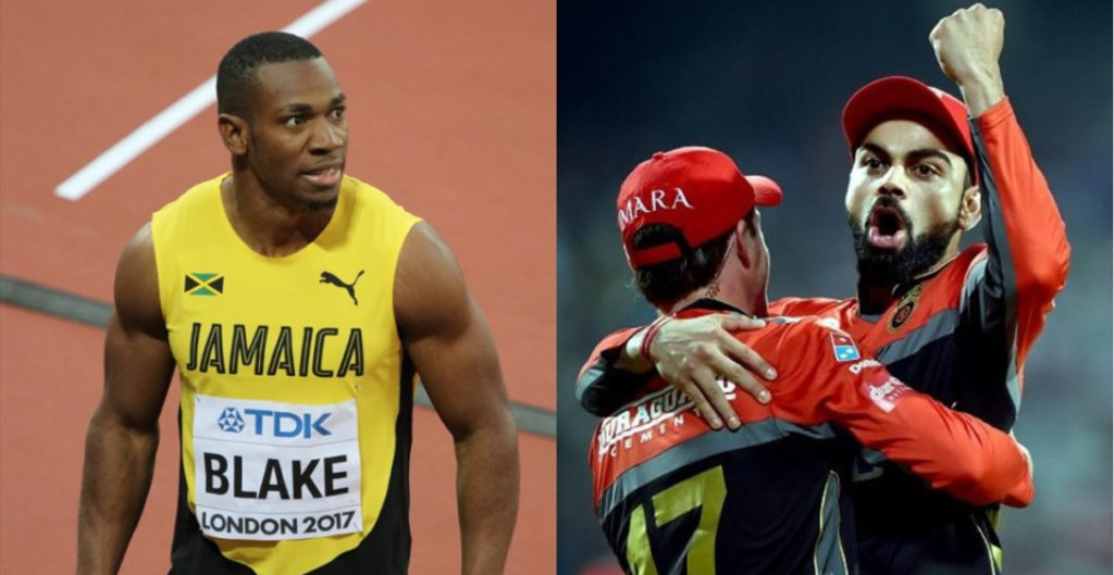 Yohan Blake- World's Second Fastest Man Wants to Represent KKR or RCB?