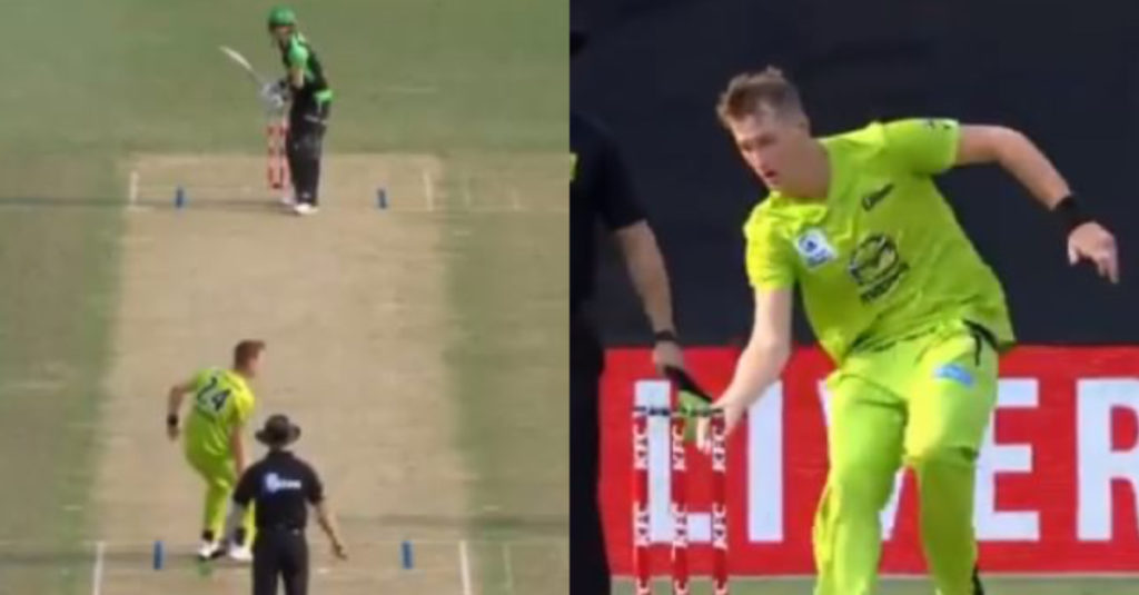 Chris Morris tries a mock Mankad on Stoinis