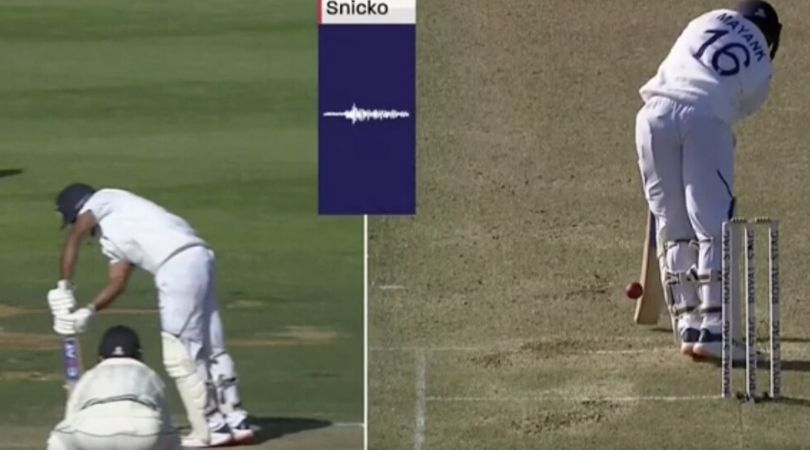 Mayank Agarwal's dismissal during the 2nd inning of Wellington test