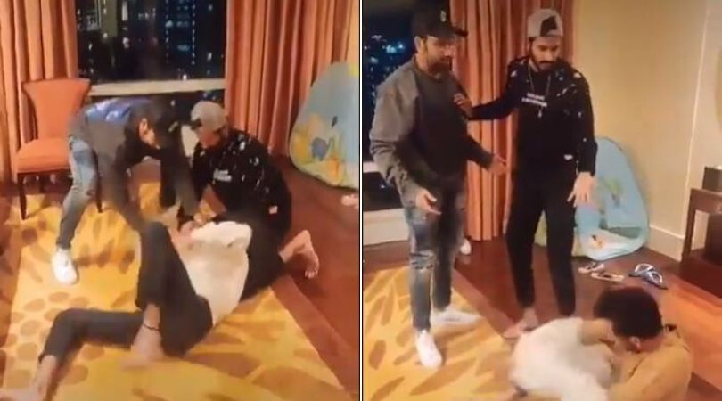 Rohit Sharma, Chahal and Khaleel recreate the famous Dhol movie seen on Tik Tok