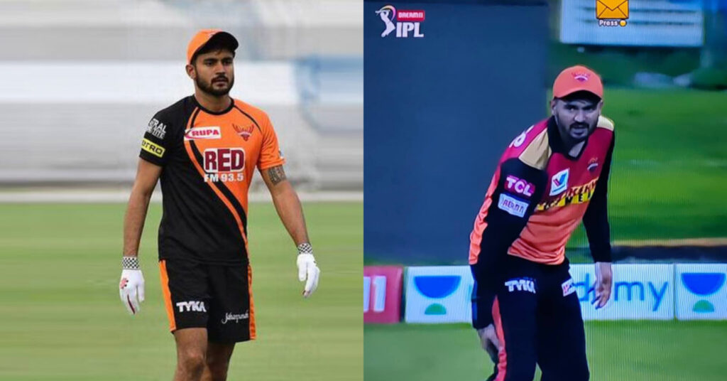 Injury Scare of SRH As Manish Pandey Left The Field Holding His Legs