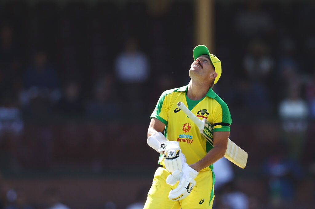 Fans cheers David Warner for performing Butta Bomma Dance on the field during 1stODI Match