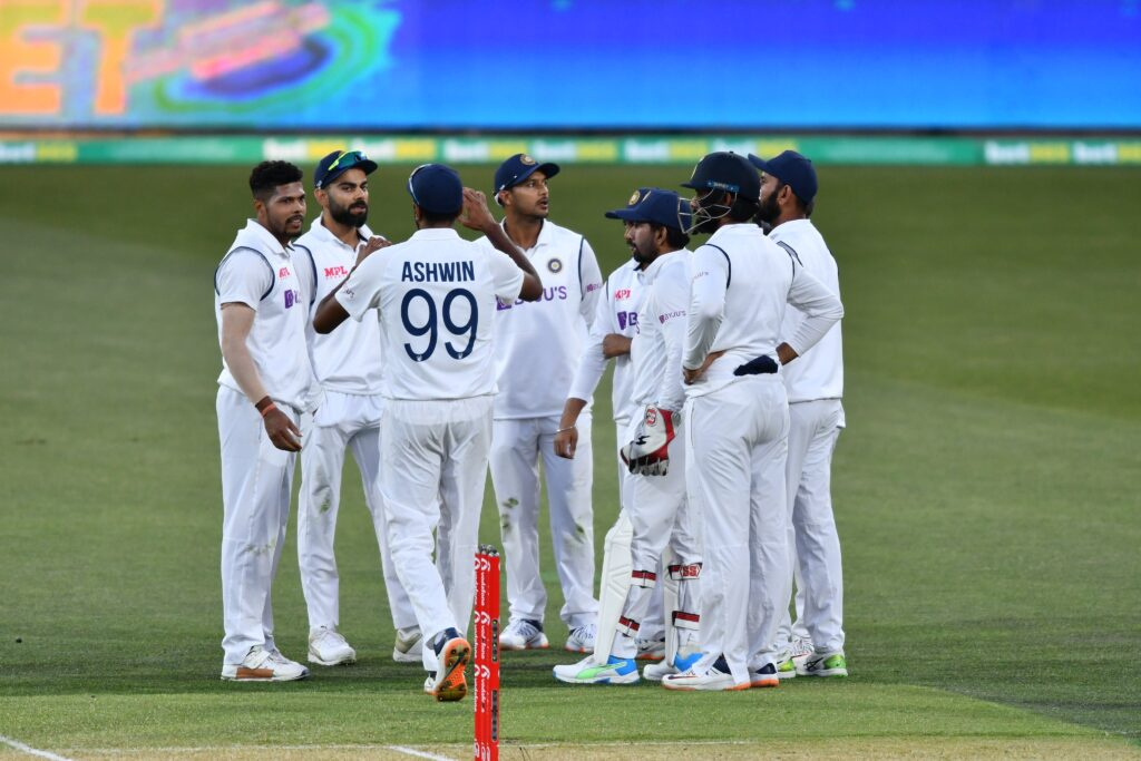 Indian squad in the second test match