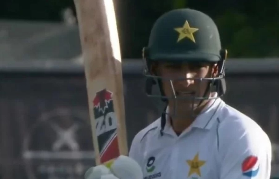 Video got viral where Pakistani Cricketer got in a hilarious words in the Test match against New Zealand