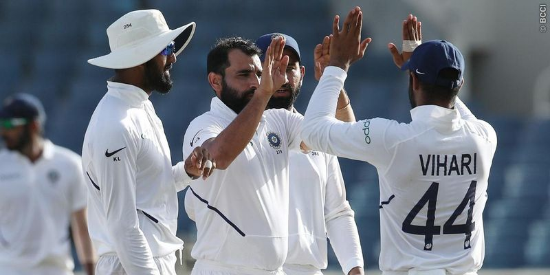 Mohammed Shami bowled an unplayable inswinger to dismiss Faf Du Plessis