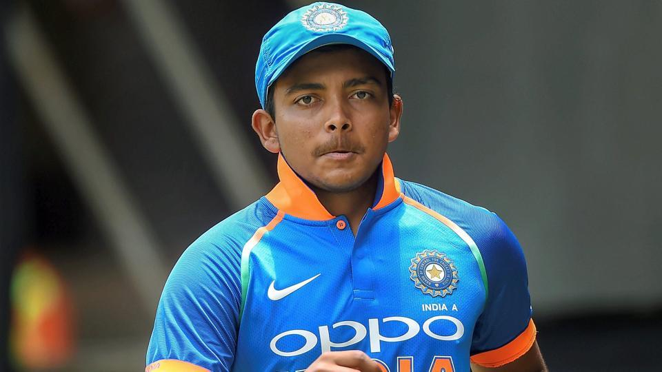 Prithvi Shaw to miss NZ tour after shoulder injury