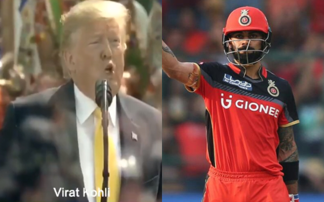 """""""Mr President, who is the trump card of RCB?"""", RCB asks Donald Trump"""