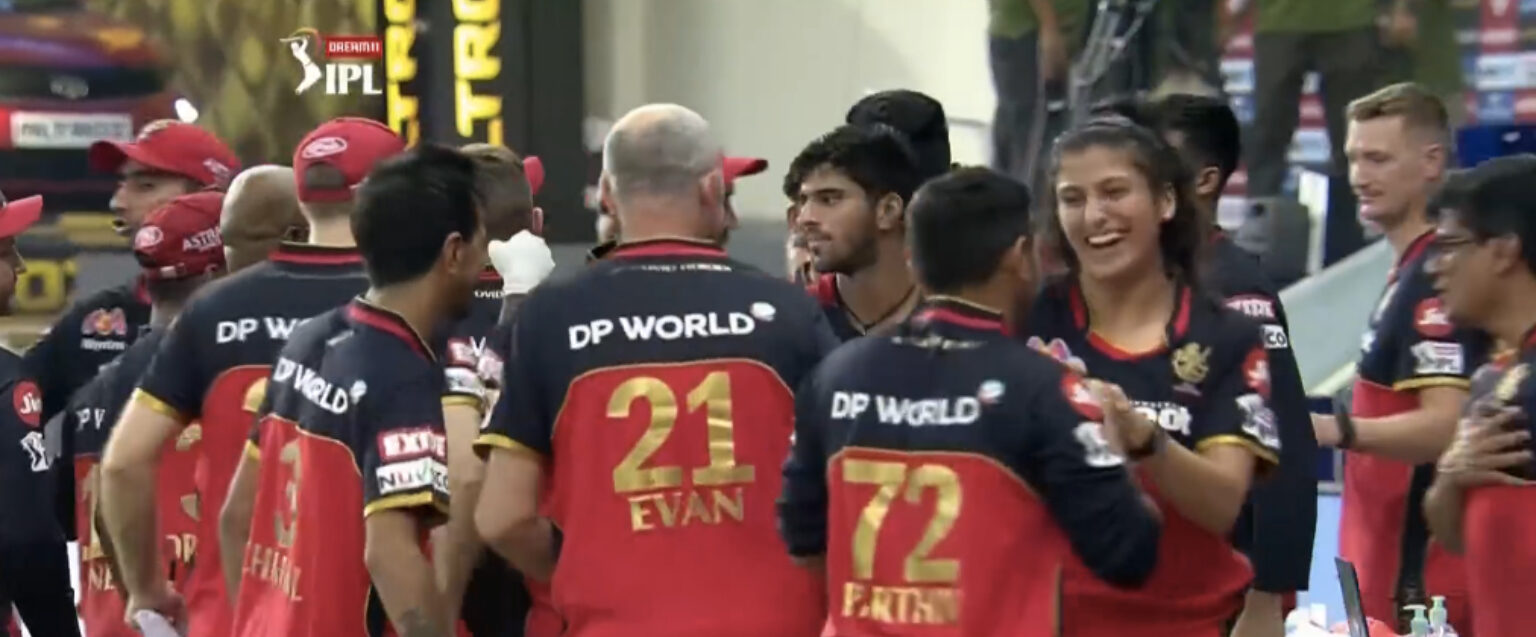 Know the wonder lady who celebrated RCB's famous win over MI