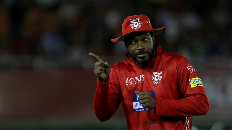 Gayle returns to field after recovering from food poisoning; might feature in playing XI against RCB