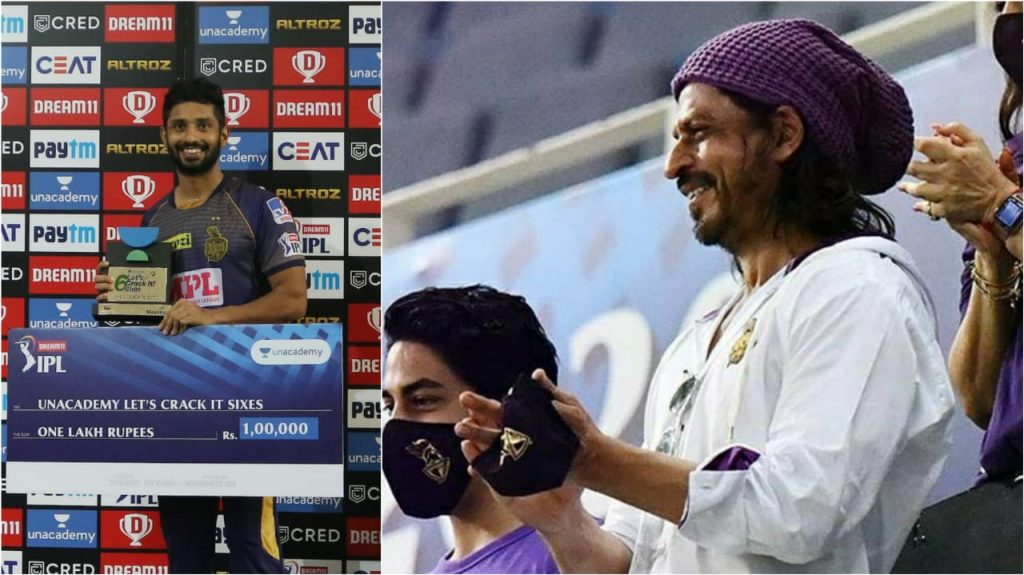 Shahrukh Khan gives a special compliment to Tripathi after a special innings from opener