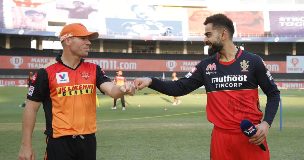 RCB and SRH teams for the IPL 2021