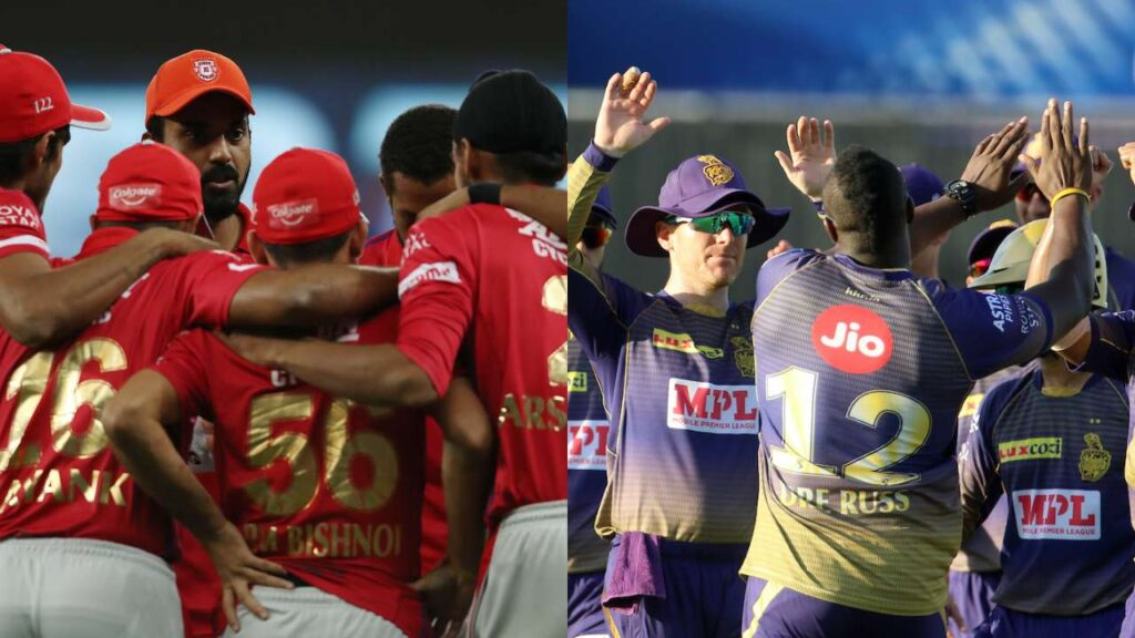 Punjab Kings and KKR teams for the IPL 2021
