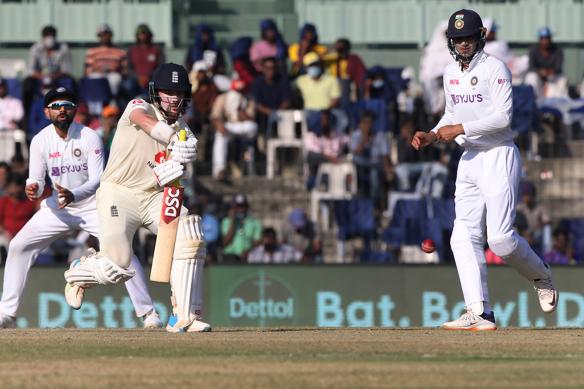 Indian Player taken for scan after taking a blow on the left forearm