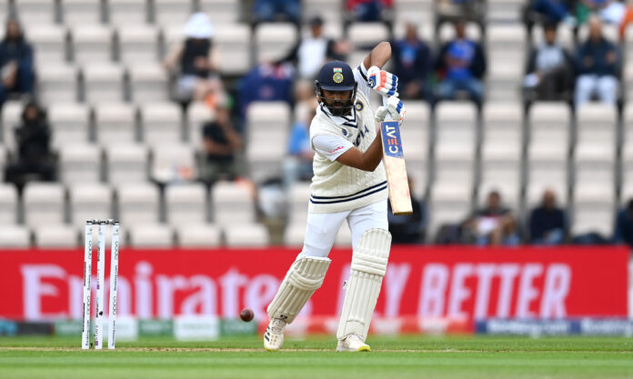 Rohit Sharma goes for a eye thrashing look after hitting a terrific boundary to Grandhomme