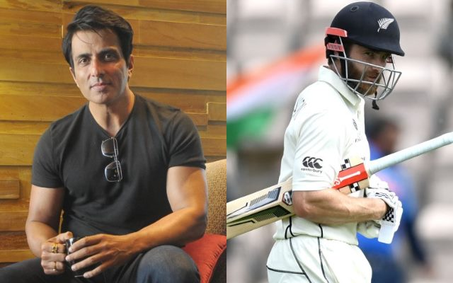 Sonu Sood reacts after fan requests that he send New Zealand captain Kane Williamson to the dug out