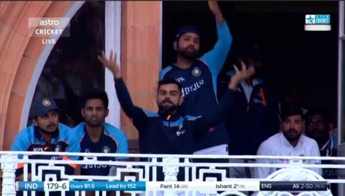 Virat and Rohit unhappy reaction to Pant for having bad lights in Lord's Test
