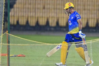 MS Dhoni goes for huge sixes in the net session ahead IPL 2021
