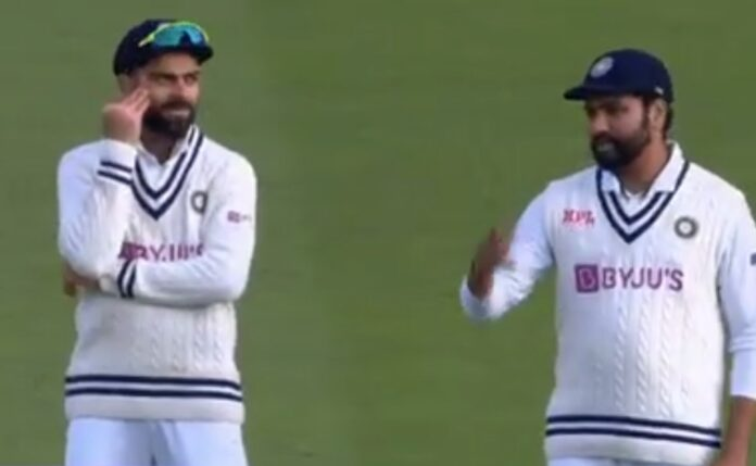 Captured a light banter between Rohit and Virat in the fourth Test